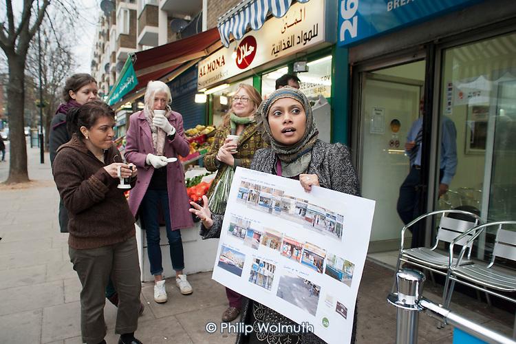 Sheba Begum, Westbourne Neighbourhood Forum. . Westbourne Parade after shopfront, pavement and street furniture improvement scheme.