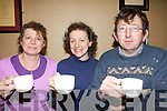 Anne O'Sullivan, Penny and Noel Crowley enjoying Kenmare Sailing Club coffee morning at the  Landsdowne Arms Hotel.