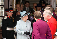 Her Majesty the Queen at Derby's Cathederal Quarter Hotel where she had lunch after a visit Derby Cathedral for the 2010 Maundy Thursday service on April 1st