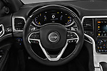 Car pictures of steering wheel view of a 2018 JEEP Grand-Cherokee Overland 5 Door SUV Steering Wheel