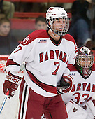 Chad Morin (Harvard - 7) - The Boston College Eagles defeated the Harvard University Crimson 3-2 on Wednesday, December 9, 2009, at Bright Hockey Center in Cambridge, Massachusetts.