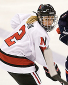 Dani Rylan (NU - 2) - The visiting University of Connecticut Huskies defeated the Northeastern University Huskies 4-2 (EN) in NU's senior game on Saturday, February 19, 2011, at Matthews Arena in Boston, Massachusetts.