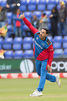Mohammad Nabi (Afghanistan) in action during Afghanistan vs Sri Lanka, ICC World Cup Cricket at Sophia Gardens Cardiff on 4th June 2019