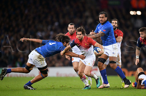 12.11.2016. Stadium Toulouse, Toulouse, France. Autumn International rugby match, France versus Samoa.  Maxime Machenaud (fra)