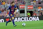 League Santander 2017/2018. Game: 01.<br /> FC Barcelona vs Real Betis: 2-0.<br /> Lionel Messi.