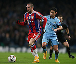 Franck Ribery of Bayern Munich gets past Jesus Navas of Manchester City  - UEFA Champions League group E - Manchester City vs Bayern Munich - Etihad Stadium - Manchester - England - 25rd November 2014  - Picture Simon Bellis/Sportimage