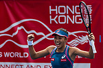 Zhang Shuai of China and Samantha Stosur of Australia (not in picture) celebrate after winning the doubles final match against Shuko Aoyama of Japan and Lidziya Marozava of Belarus during at the WTA Prudential Hong Kong Tennis Open 2018 at the Victoria Park Tennis Stadium on 14 October 2018 in Hong Kong, Hong Kong. Photo by Yu Chun Christopher Wong / Power Sport Images