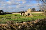 Ruins of Greyfriars friary, Dunwich, Suffolk, England, UK