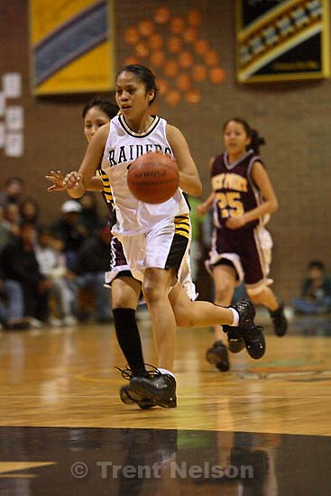 Whitehorse high school girls basketball, senior night, a win over Rock Point. 2.03.2006<br />
