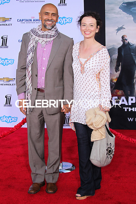 "HOLLYWOOD, LOS ANGELES, CA, USA - MARCH 13: Bernard White, Jackie Katzman at the World Premiere Of Marvel's ""Captain America: The Winter Soldier"" held at the El Capitan Theatre on March 13, 2014 in Hollywood, Los Angeles, California, United States. (Photo by Xavier Collin/Celebrity Monitor)"