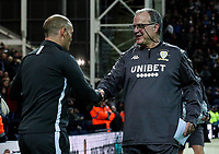 Leeds United manager Marcelo Bielsa is greeted by Preston North End manager Alex Neil <br /> <br /> Photographer Alex Dodd/CameraSport<br /> <br /> The EFL Sky Bet Championship - Preston North End v Leeds United - Tuesday 22nd October 2019 - Deepdale Stadium - Preston<br /> <br /> World Copyright © 2019 CameraSport. All rights reserved. 43 Linden Ave. Countesthorpe. Leicester. England. LE8 5PG - Tel: +44 (0) 116 277 4147 - admin@camerasport.com - www.camerasport.com