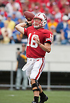 Wisconsin Badgers quarterback Scott Tolzien (16) throws the ball during an NCAA college football game against the San Jose State Spartans on September 11, 2010 at Camp Randall Stadium in Madison, Wisconsin. The Badgers beat San Jose State 27-14. (Photo by David Stluka)