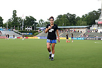 Cary, North Carolina  - Saturday June 17, 2017: Angela Salem prior to a regular season National Women's Soccer League (NWSL) match between the North Carolina Courage and the Boston Breakers at Sahlen's Stadium at WakeMed Soccer Park. The Courage won the game 3-1.