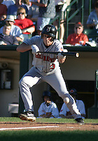 July 18, 2003:  Jason Conti of the Indianapolis Indians, Class-AAA affiliate of the Milwaukee Brewers, during an International League game at Frontier Field in Rochester, NY.  Photo by:  Mike Janes/Four Seam Images