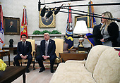 United States President Donald J. Trump (R) meets with Prime Minister of the Italian RepublicGiuseppe Conte in the Oval Office on July 30, 1018 in Washington, DC. Among the topics to be discussed is trade and NATO. <br /> Credit: Mark Wilson / Pool via CNP