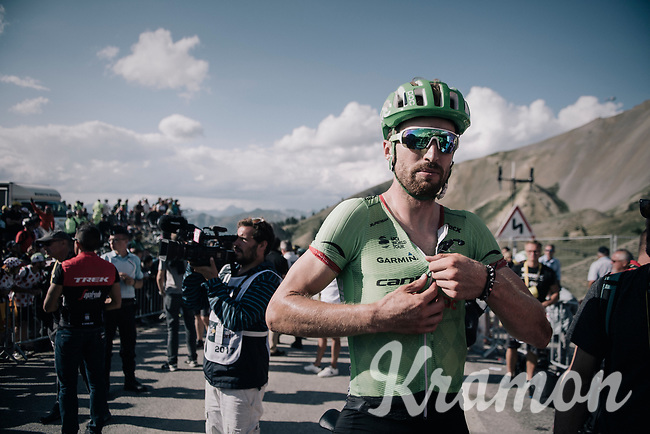 Taylor Phinney (USA/Cannondale-Drapac) up the Col d'Izoard (HC/2360m/14.1km/7.3%)<br /> <br /> 104th Tour de France 2017<br /> Stage 18 - Briancon › Izoard (178km)