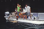 Sam Gruber & Jean Working Up Lemon Shark With Aya, Jon, Rick Kirkham & Joao