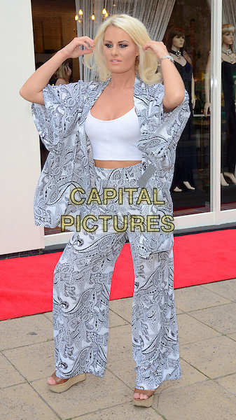 HORNCHURCH, ESSEX, JUL 24: Danielle Armstrong opens new boutique 'Danni' at North Street, Hornchurch, Essex on July 24th 2014 in England, UK.<br /> CAP/PP/MB<br /> &copy;Michael Ball/PP/Capital Pictures