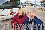 Pauline Browne and Martina Reid angry at cuts to bus routes between Tralee and Ballybunion.
