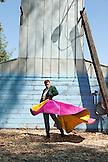 USA, California, Toreador Dennis Borba at his bullfighting school in Escalon