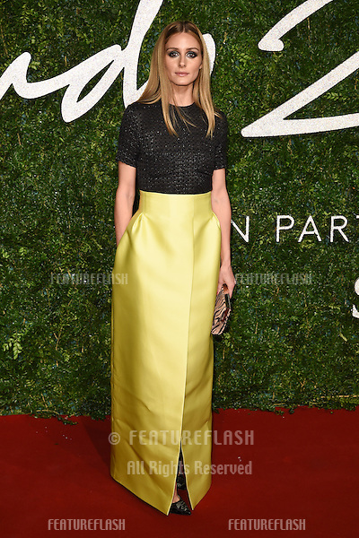 Olivia Palermo arrives for British Fashion Awards 2014 at the London Coliseum, Covent Garden, London. 01/12/2014 Picture by: Steve Vas / Featureflash