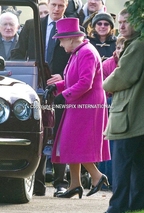 "QUEEN ATTENDS CHURCH SERVICE.The Queen, Prince Philip and  Prince Edward, Sophie, Countess of Wessex attended Sunday Mass at St. Mary Magdalene's on the Sandringham Estate_30/12/2012.Kate and Prince William hio reported to be at Sandringham did not attend..©NEWSPIX INTERNATIONAL..Mandatory credit photo:NEWSPIX INTERNATIONAL(Failure to credit will incur a surcharge of 100% of reproduction fees)..**ALL FEES PAYABLE TO: ""NEWSPIX  INTERNATIONAL""**..Newspix International, 31 Chinnery Hill, Bishop's Stortford, ENGLAND CM23 3PS.Tel:+441279 324672.Fax: +441279656877.Mobile:  07775681153.e-mail: info@newspixinternational.co.uk"