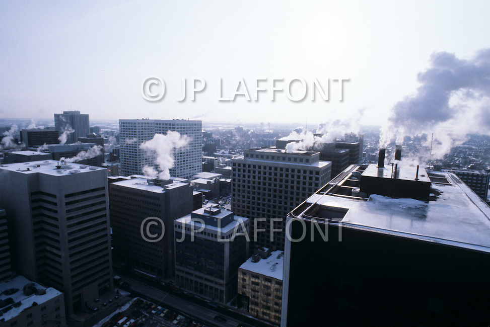 Ottawa, Canada, February 1980. During the grave situation of the referendum the capital Ottawa was in great agitation and expectation. View of the city landscape.