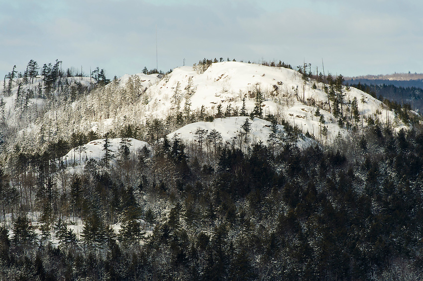 The Huron Mountains near Marquette, Michigan in winter.