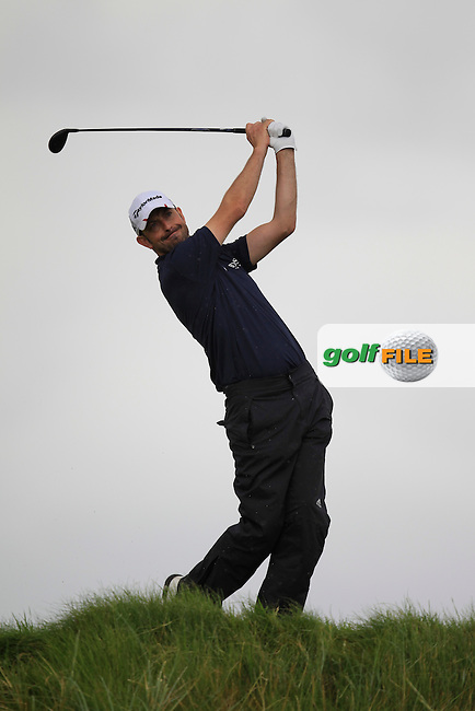 Dave O'Donovan (Muskerry) on the 6th tee during the South of Ireland Amateur Open Championship First Round at Lahinch Golf Club  27th July 2013 <br /> Picture:  Thos Caffrey / www.golffile.ie