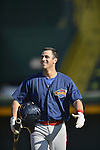 18 August 2012: Brooklyn Cyclones infielder Richie Rodriguez awaits his turn in the batting cage prior to a game against the Vermont Lake Monsters at Centennial Field in Burlington, Vermont. The Lake Monsters defeated the Cyclones 4-1 in NY Penn League action. Mandatory Credit: Ed Wolfstein Photo