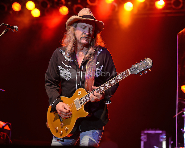 FORT LAUDERDALE FL - MARCH 11: Chris Hicks of The Marshall Tucker Band performs at The Pompano Beach Amphitheater on March 11, 2016 in Fort Lauderdale, Florida. Credit: mpi04/MediaPunch