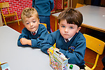 Eliot Calleja and Shane Carey   getting settled in on their first day at school at Scoil Eoin