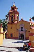Church in the village of San Sebastian Bernal, Queretaro state, Mexico