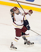 Leah Lum (UConn - 7), Makenna Newkirk (BC - 19) - The Boston College Eagles defeated the visiting UConn Huskies 4-0 on Friday, October 30, 2015, at Kelley Rink in Conte Forum in Chestnut Hill, Massachusetts.