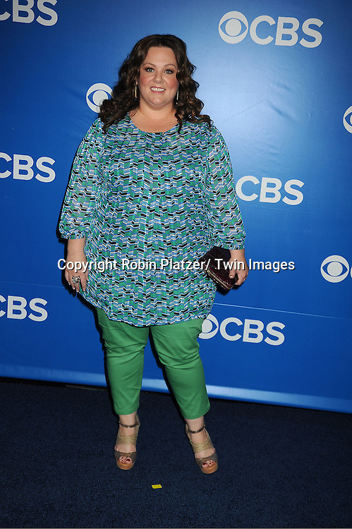 "Melissa McCarthy of "" Mike &  Molly"" attends the CBS Upfront 2012 at The Tent at Lincoln Center in New York City on May 16, 2012."