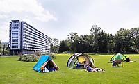 Nederland  Amsterdam 2017. Jaarlijkse camping in de Bijlmer. Buurtcamping Egeldonk. Foto mag niet in negatieve context gebruikt worden.   Berlinda van Dam / Hollandse Hoogte