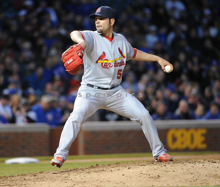 St. Louis Cardinals at the Chicago Cubs. Cardinals win5-1..April 25, 2012