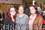 Workers Kelly Collins and Trish Naughton with Katie McSweeney(centre) picturd at the official opening of the LIstowel Family Rescource Centre last Monday afternoon.