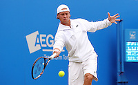 11.06.13 London, England. Ricardas Berankis (LTU) during the The Aegon Championships from the The QueenÕs Club in West Kensington.