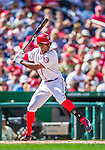 20 September 2015: Washington Nationals outfielder Michael Taylor in action against the Miami Marlins at Nationals Park in Washington, DC. The Nationals defeated the Marlins 13-3 to take the final game of their 4-game series. Mandatory Credit: Ed Wolfstein Photo *** RAW (NEF) Image File Available ***