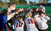STANFORD, CA - September 3, 2010: Team during a field hockey match against UC Davis in Stanford, California. Stanford won 3-1.