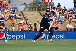 Scotland's Hamish Gadiner slides one down to third man. Oval, Nelson, New Zealand, <br /> Photo: Marc Palmano/shuttersport.co.nz