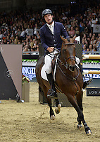 Jack Towell (USA), riding Emilie de Diamant AS at the Gucci Gold Cup International Jumping competition at the 2015 Longines Masters Los Angeles at the L.A. Convention Centre.<br /> October 3, 2015  Los Angeles, CA<br /> Picture: Paul Smith / Featureflash