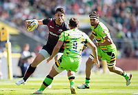 Sean Maitland of Saracens in possession. Aviva Premiership match, between Saracens and Northampton Saints on September 2, 2017 at Twickenham Stadium in London, England. Photo by: Patrick Khachfe / JMP