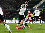 Tom Lawrence of Derby County is brought down to earn penalty during the FA Cup match at the Pride Park Stadium, Derby. Picture date: 4th February 2020. Picture credit should read: Darren Staples/Sportimage