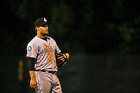 D.J. Peterson (33) of the Jackson Generals looks on during a game between the Jackson Generals and Chattanooga Lookouts at AT&T Field on May 7, 2015 in Chattanooga, Tennessee. (Brace Hemmelgarn/Four Seam Images)