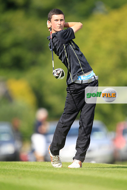 Mark Healy (Bandon) on the 10th tee during the Irish Boys Under 15 Amateur Open Championship Round 2 at the West Waterford Golf Club on Wednesday 21st August 2013 <br /> Picture:  Thos Caffrey/ www.golffile.ie