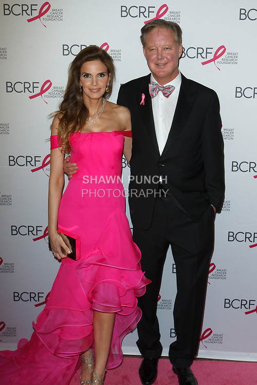 "Amy and Brian France attend The Breast Cancer Research Foundation ""Super Nova"" Hot Pink Party on May 12, 2017 at the Park Avenue Armory in New York City."