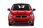 Car photography straight front view of a 2019 Mitsubishi Space-Star Black-Collection 5 Door Hatchback Front View