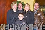 Pictured at the Killarney judo club quiz night in the Eviston House Hotel, Killarney on Saturday night were Bridanne, Patrick, Ann, Richard and Christopher Carey.